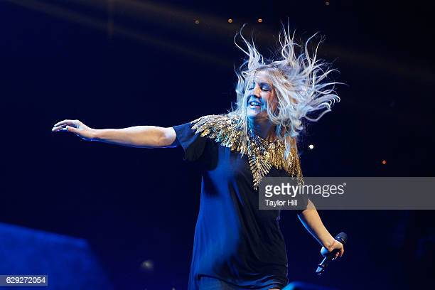 Ellie Goulding performs during the 2016 KISS 108 Jingle Ball at TD Banknorth Garden on December 11 2016 in Boston Massachusetts