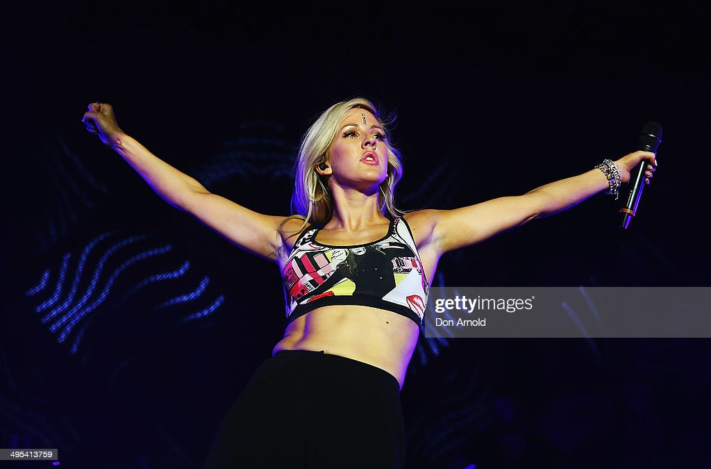 <a gi-track='captionPersonalityLinkClicked' href=/galleries/search?phrase=Ellie+Goulding&family=editorial&specificpeople=6389309 ng-click='$event.stopPropagation()'>Ellie Goulding</a> performs live for fans at Hordern Pavilion on June 3, 2014 in Sydney, Australia.