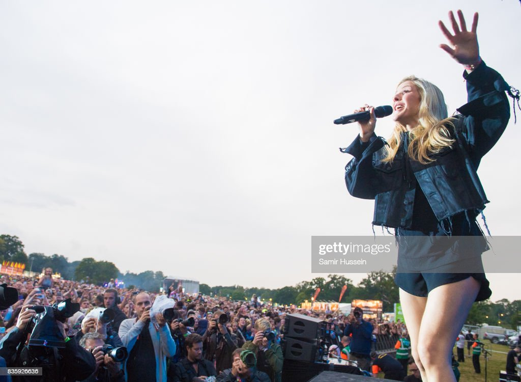 Ellie Goulding performs live on stage during V Festival 2017 at Hylands Park on August 20, 2017 in Chelmsford, England.