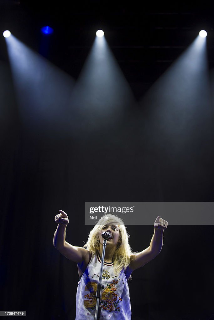 Ellie Goulding performs on day 2 of the V Festival at Hylands Park on August 18, 2013 in Chelmsford, England.