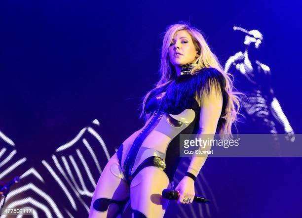 Ellie Goulding performs on stage at O2 Arena on March 9 2014 in London United Kingdom