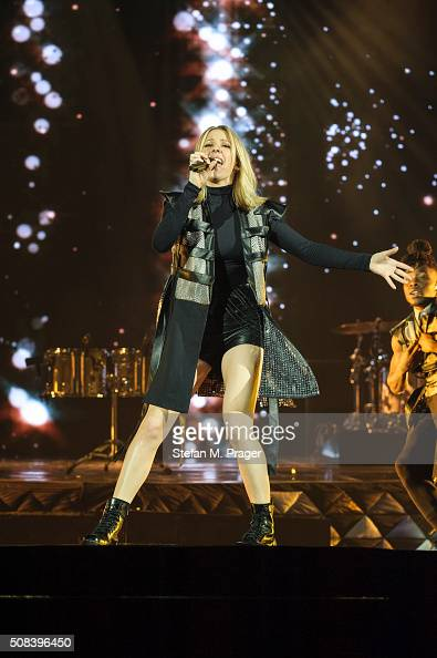 Ellie Goulding performs on stage at Olympiahalle on February 02 2016 in Munich Germany