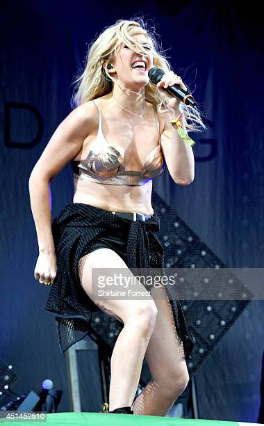 Ellie Goulding performs on The Other Stage on Day 3 of the Glastonbury Festival at Worthy Farm on June 29 2014 in Glastonbury England