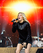 Ellie Goulding performs on the Pyramid Stage at Glastonbury Festival 2016 at Worthy Farm Pilton on June 26 2016 in Glastonbury England