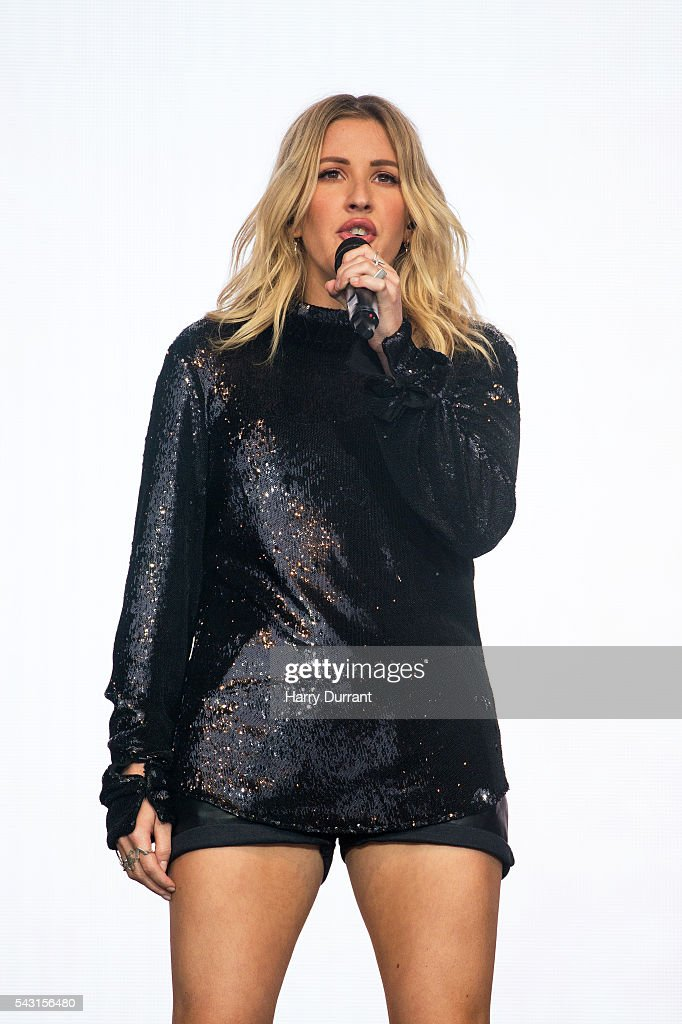 <a gi-track='captionPersonalityLinkClicked' href=/galleries/search?phrase=Ellie+Goulding&family=editorial&specificpeople=6389309 ng-click='$event.stopPropagation()'>Ellie Goulding</a> performs on The Pyramid Stage, Glastonbury Festival 2016 at Worthy Farm, Pilton on June 26, 2016 in Glastonbury, England.