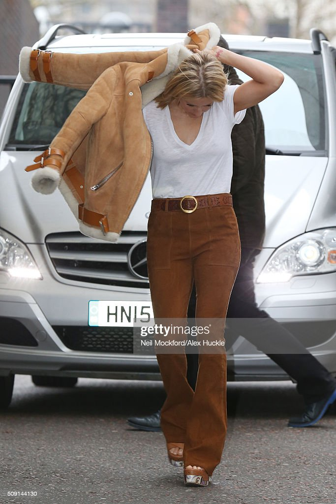 Ellie Goulding seen at the ITV Studios on February 9, 2016 in London, England.