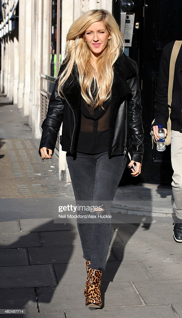 Ellie Goulding seen leaving KISS FM UK Studios on January 29 2015 in London England