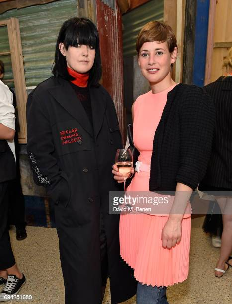 Ellie Grace Cumming and Shonagh Marshall attend a cocktail event for the launch of a special Gucci PreFall capsule exclusive to Dover Street Market...