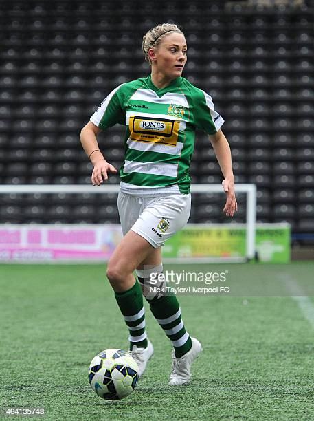 Ellie Isaac of Yeovil Town Ladies in action during the preseason friendly between Liverpool Ladies and Yeovil Town Ladies at Select Security Stadium...
