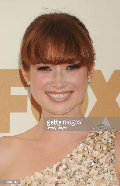 Ellie Kemper arrives at the 63rd Primetime Emmy Awards at the Nokia Theatre LA Live on September 18 2011 in Los Angeles California