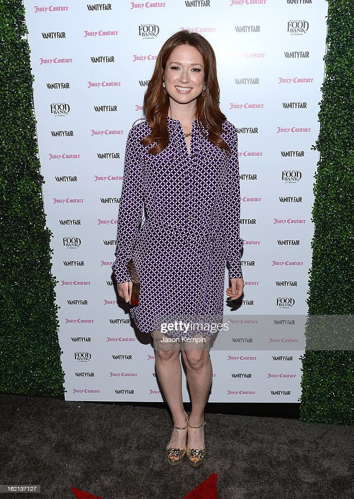 Ellie Kemper attends the Vanity Fair And Juicy Couture Celebration Of The 2013 Vanities Calendar With Olivia Munn at Chateau Marmont on February 18, 2013 in Los Angeles, California.