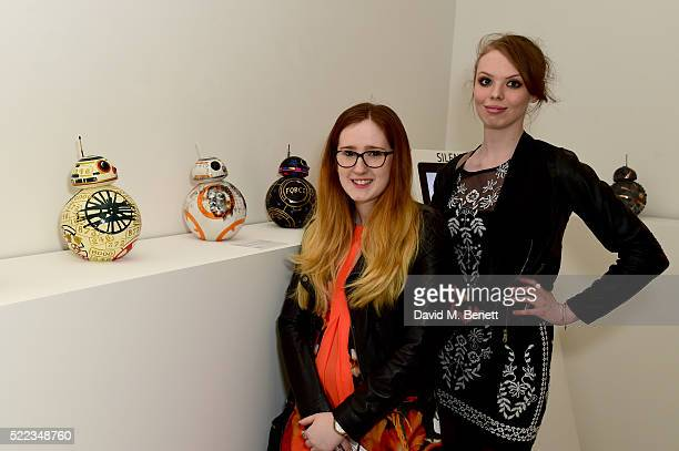 Ellie Larkin and Robyn Drew attend the Star Wars The Force Awakens BB8 GREAT Exhibition and Auction in aid of Great Ormond Street Hospital Children's...