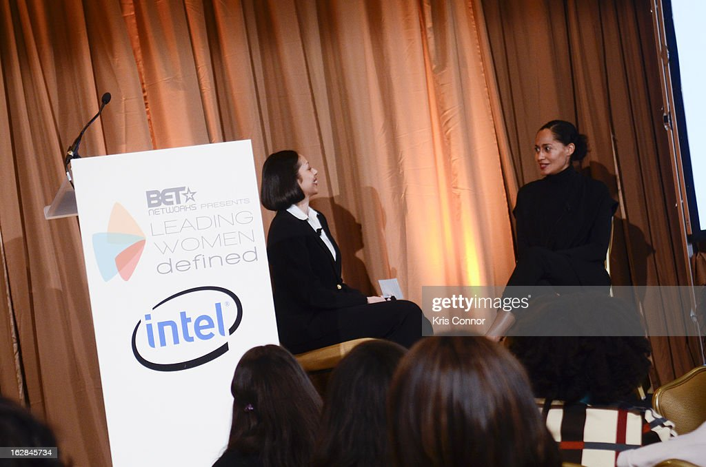 Ellie Nieves and Tracee Ellis Ross speak during the Leading Women Defined: Intel Presents Developing Your Personal Brand Mentoring Session on February 28, 2013 in Washington, DC.