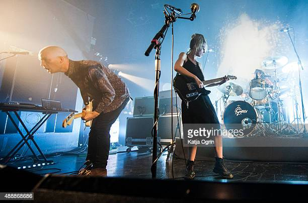 Ellie Rowsell and Joff Oddie of Wolf Alice performing live on stage at The Institute on September 17 2015 in Birmingham England
