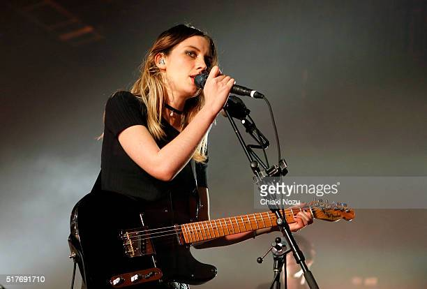 Ellie Rowsell of Wolf Alice performs at O2 Forum Kentish Town on March 26 2016 in London England