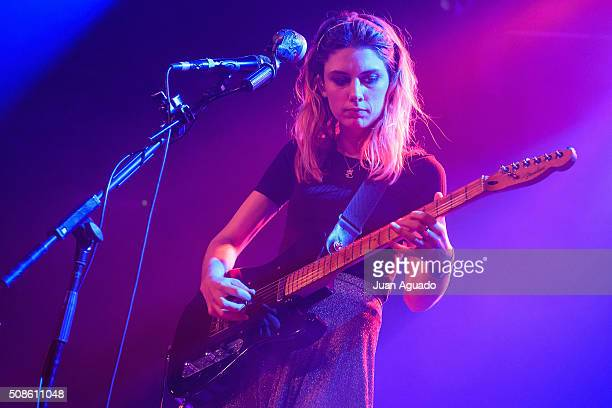 Ellie Rowsell of Wolf Alice performs on stage at La Riviera Club on February 5 2016 in Madrid Spain