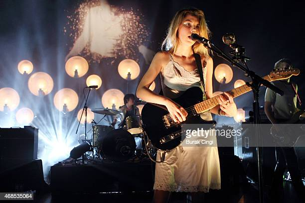 Ellie Rowsell of Wolf Alice performs on stage at O2 Shepherd's Bush Empire on April 3 2015 in London United Kingdom