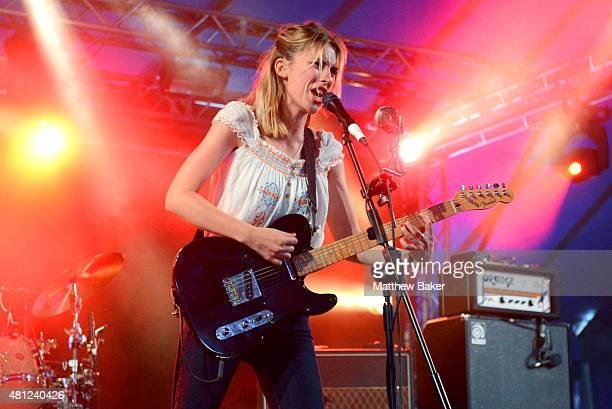 Ellie Rowsell of Wolf Alice performs on the BBC Radio 6 Music stage on day 3 of Latitude Festival at Henham Park Estate on July 18 2015 in Southwold...