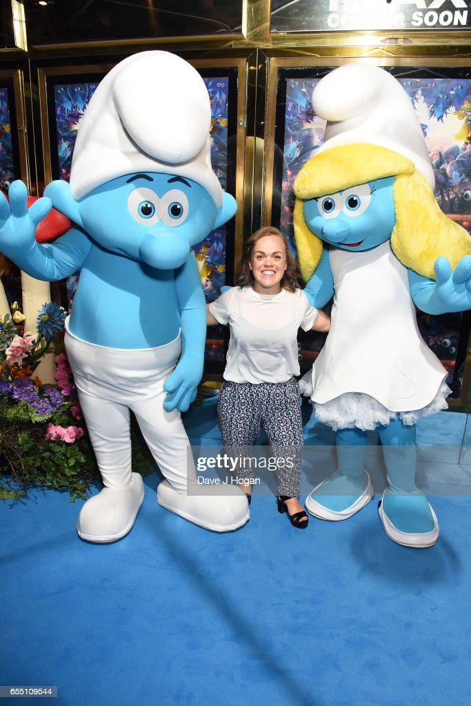 Ellie Simmonds attends the Gala Screening of 'Smurfs: The Lost Village' at Cineworld Leicester Square on March 19, 2017 in London, England.