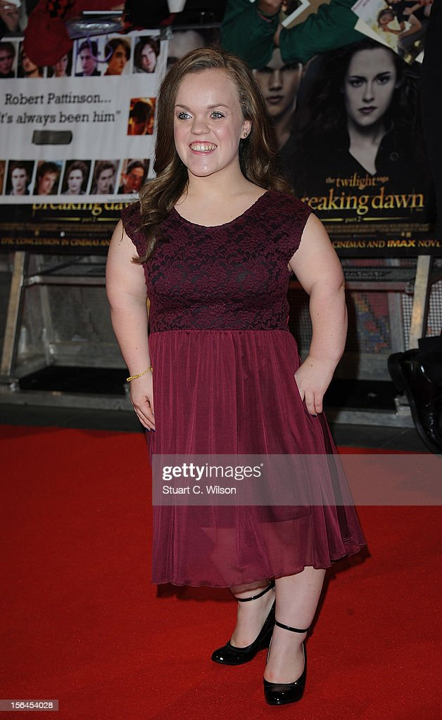 Ellie Simmonds attends the UK Premiere of 'The Twilight Saga: Breaking Dawn - Part 2' at Odeon Leicester Square on November 14, 2012 in London, England.
