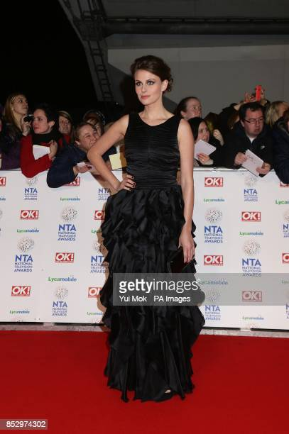 Ellie Taylor arriving for the 2014 National Television Awards at the O2 Arena London