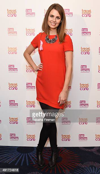 Ellie Taylor attends Breast Cancer Care's London fashion show at Grosvenor House Hotel to launch Breast Cancer Awareness Month on October 7 2015 in...