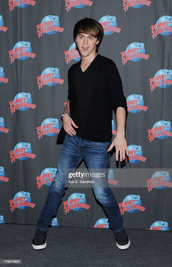 Ellington Ratliff of the band R5 visits Planet Hollywood Times Square on September 2, 2013 in New York City.