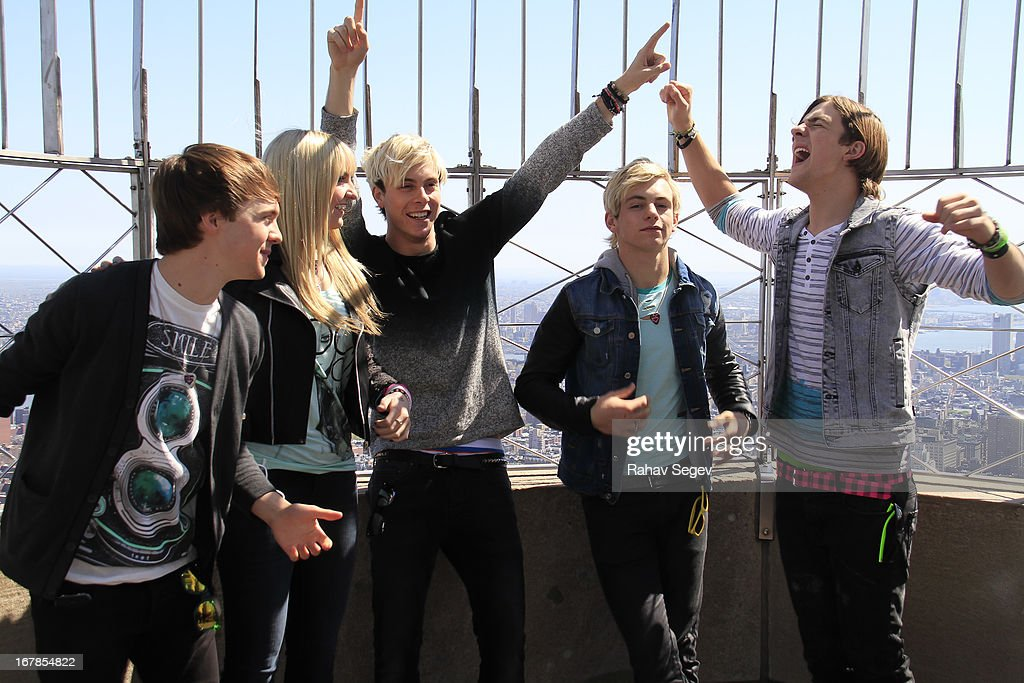 Ellington Ratliff, Rydel Lynch, Riker Lynch, Ross Lynch and Rocky Lynch of R5 visit The Empire State Building on May 1, 2013 in New York City.