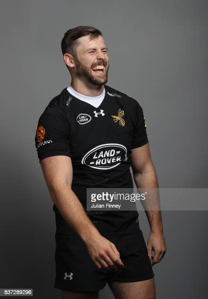 Elliot Daly of Wasps poses for a portrait during the Wasps photocall for the 20172018 Aviva Premiership Rugby season at Ricoh Arena on August 22 2017...