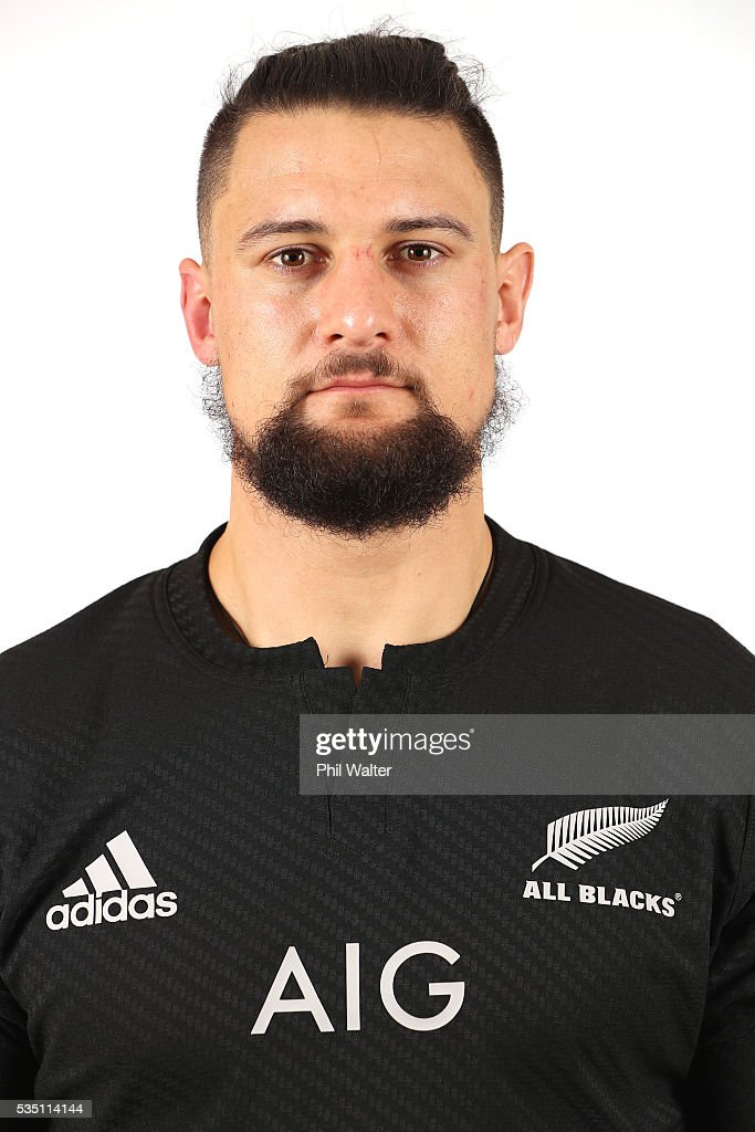 Elliot Dixon of the All Blacks poses for a portrait during a New Zealand All Black portrait session on May 29, 2016 in Auckland, New Zealand.