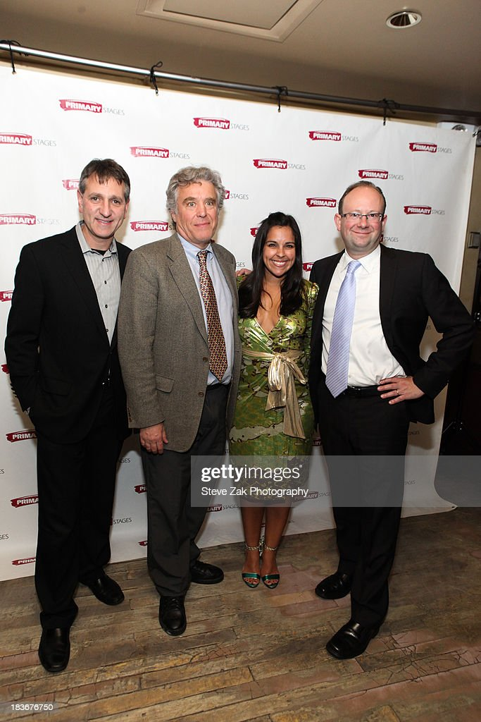 Elliot Fox, Casey Childs Michelle Bossy and Andrew Leynse <<attends the after party for the opening night of the 'Bronx Bombers'>> at West Bank Cafe on October 8, 2013 in New York City.