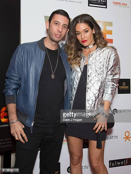 Elliot Gleave aka Example and wife Erin McNaught attend the film premiere of 'White Island' at Vue Piccadilly on October 10 2016 in London England
