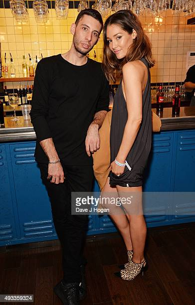Elliot Gleave and Erin McNaught attend the World Premiere of 'Between Two Worlds' at Picturehouse Central on October 19 2015 in London England
