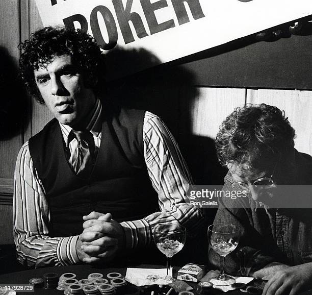Elliot Gould and Richard Dreyfuss during 'Sting' Trophy Poker Championship at Chasen's Restaurant in Beverly Hills California United States