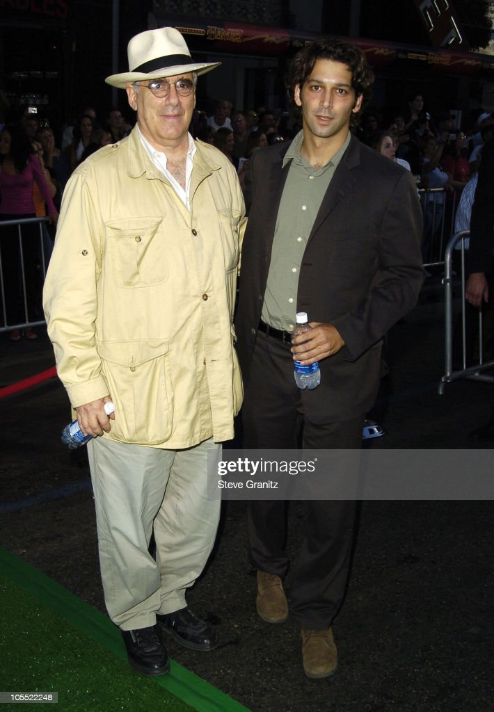 Elliot Gould and son Sam Gould during 'Mr 3000' Premiere Los Angeles at El Capitan in Hollywood California United States