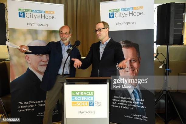 Elliot Groffman and Will Botwin President and CEO Red Light Management speak during City of Hope's The New York Spirit Of Life Campaign kick off...