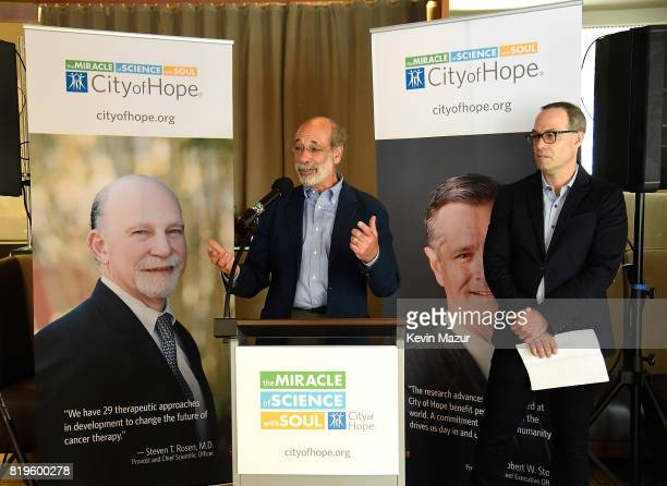 Elliot Groffman speaks during City of Hope's The New York Spirit Of Life Campaign kick off event honoring Coran Capshaw at Fred's at Barneys on July...