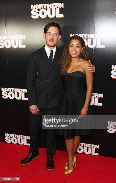 Elliot James Langridge and Antonia Thomas attend a Gala Screening of 'Northern Soul' at the Curzon Soho on October 2 2014 in London England