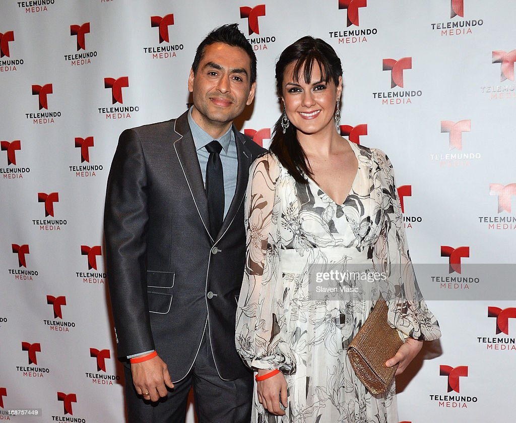 Elliot Saenz and Nathalia Ortiz attend the 2013 Telemundo Upfront at Frederick P. Rose Hall, Jazz at Lincoln Center on May 14, 2013 in New York City.