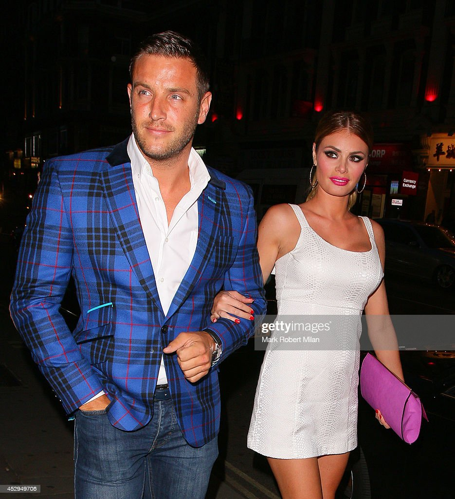 Elliot Wright and Chloe Sims at Century club for the The Only Way Is Essex wrap party on July 30 2014 in London England
