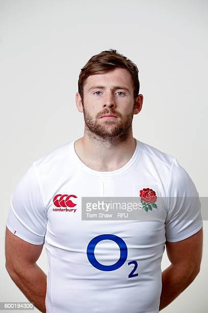 Elliott Daly of England poses for a portrait during the England Elite Player Squad photo call at The Lensbury on August 7 2016 in Teddington England