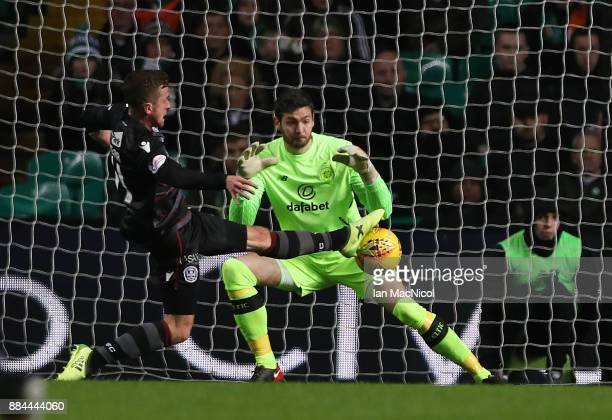 Elliott Frear of Motherwell scores during the Ladbrokes Scottish Premiership match between Celtic and Motherwell at Celtic Park on December 2 2017 in...