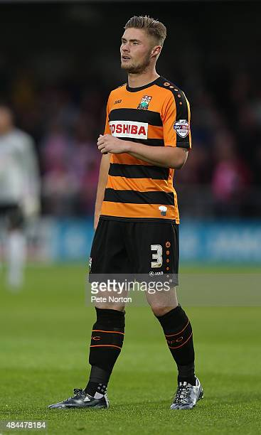 Elliott Johnson of Barnet in action during the Sky Bet League Two match between Barnet and Northampton Town at The Hive on August 18 2015 in Barnet...