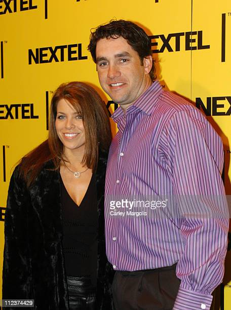 Elliott Sadler and guest during 2004 Nascar Nextel Cup Series Champion's Celebration at Marquee in New York City New York United States