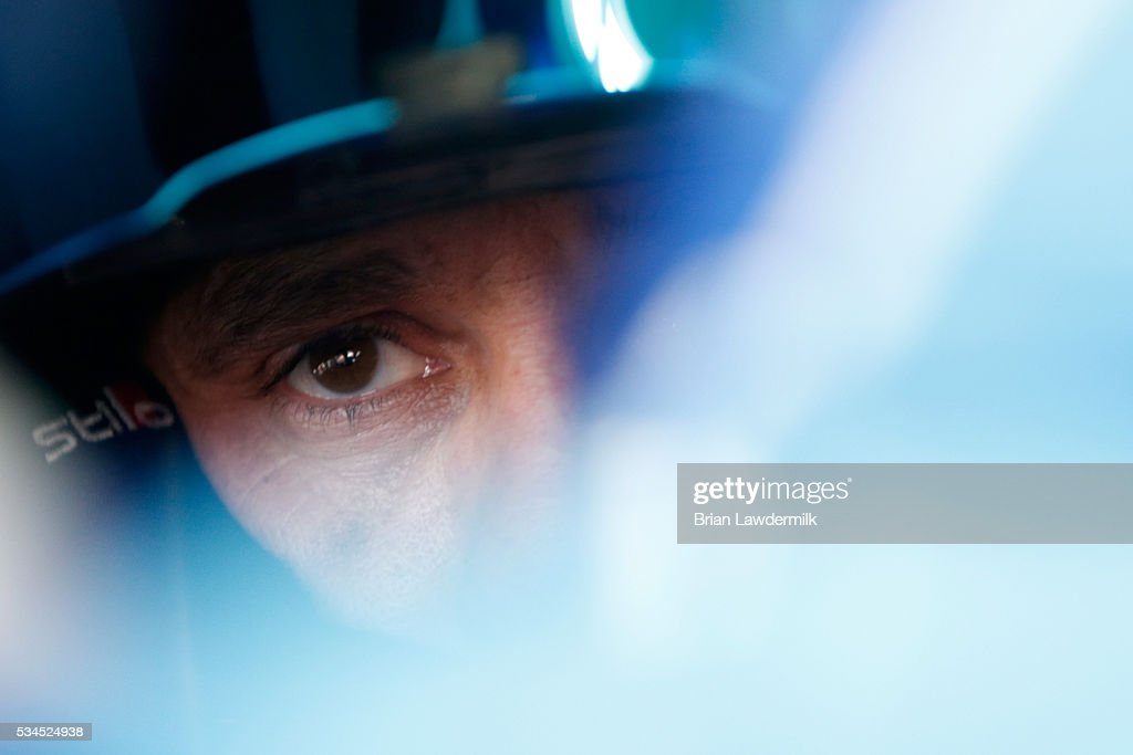 <a gi-track='captionPersonalityLinkClicked' href=/galleries/search?phrase=Elliott+Sadler&family=editorial&specificpeople=204623 ng-click='$event.stopPropagation()'>Elliott Sadler</a>, driver of the #1 OneMain Chevrolet, sits in his car during practice for the NASCAR XFINITY Series Hisense 4K TV 300 at Charlotte Motor Speedway on May 27, 2016 in Charlotte, North Carolina.