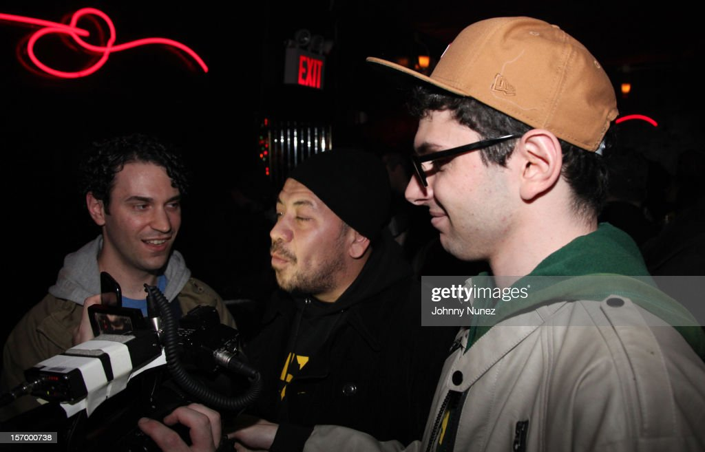 Elliott Wilson (c) attends Wiz Khalifa's 'O.N.I.F.C.' Listening Party at The West Way on November 26, 2012 in New York City.
