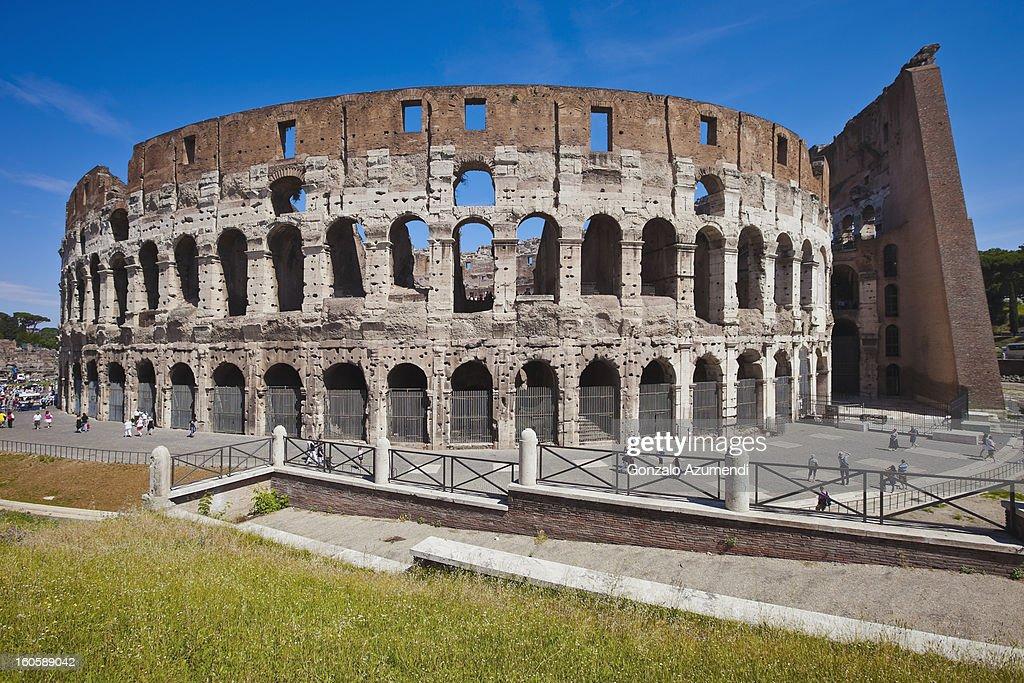 Elliptical Amphitheatre of Roman Empire. : Stock Photo