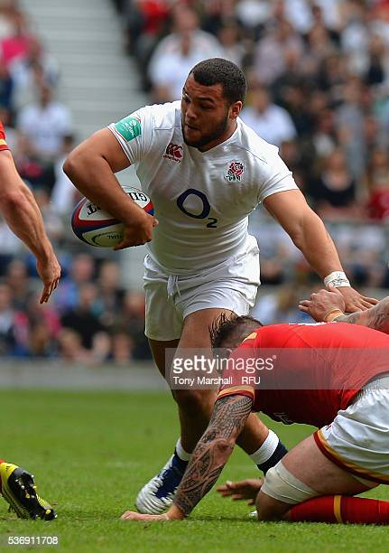 Ellis Genge of England during the Old Mutual Wealth Cup between England and Wales at Twickenham Stadium on May 29 2016 in London England