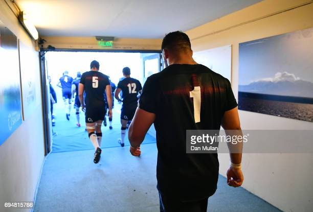 Ellis Genge of England makes his way out for the second half during the ICBC Cup match between Argentina and England at the Estadio San Juan del...