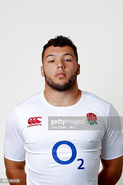 Ellis Genge of England poses for a portrait during the England Elite Player Squad photo call at The Lensbury on August 7 2016 in Teddington England